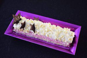 Buche chocolat blanc et framboise