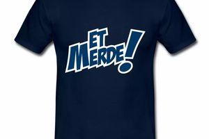 T shirt bleu m homme Humour Et Merde