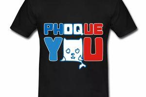 T shirt noirr homme Phoque you