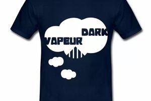 T shirt bleu m homme Humour Dark Vapeur