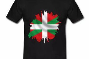 T shirt Pays Basque noir homme Drapeau Basque 64