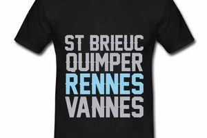 T Shirt Bretagne noir hommes Rennes
