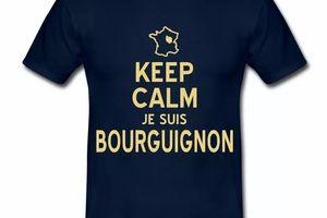 T Shirt Bourgogne Keep Calm je suis Bourguignon HBM