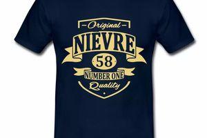 T Shirt Bourgogne Nièvre 58 Original Quality HBM