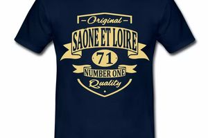 T Shirt Bourgogne Saône Et Loire 71 Original Quality HBM
