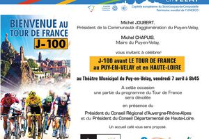 J-100 avant le Tour de France au Puy en Velay