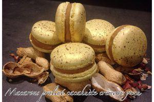 Macarons praliné cacahuète crémeux yuzu