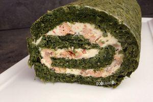 Roulé épinards saumon frais