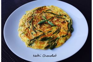 Omelette d'asperges sauvages