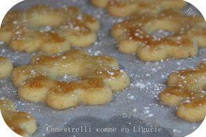 Cannestrelli, les petits biscuits de Ligurie