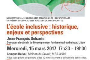 Mercredys - L'école inclusive : historique, enjeux et perspectives - 15 mars 2017