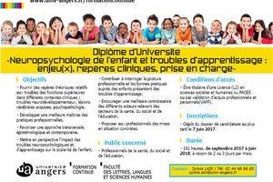 D.U. Neuropsychologie de l'enfant et troubles d'apprentissages