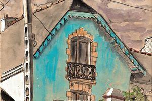 Lanester... maison turquoise sous ciel d'orage