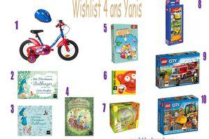 Wishlist anniversaire 4 ans de Yanis