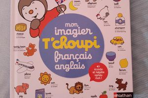 Mon imagier T'choupi français anglais - Editions Nathan