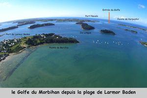 Vues aériennes Larmor Baden et le golfe du Morbihan