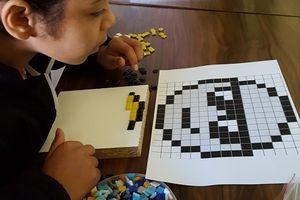 """La classe de 6ème a fait du """"pixel art"""""""
