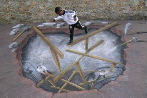 Dessin 3D Street Art