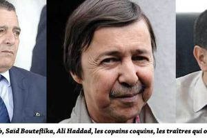 Saïd Bouteflika, Haddad, Bouchouareb : le ciment de la corruption en Algérie