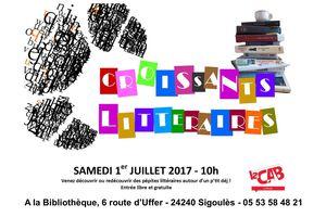 Croissants littéraires le 1er juillet à 10h