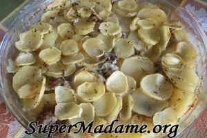 Gratin pommes de terre-chipos au thym
