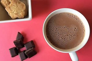 How about a hot chocolate?! gluten free!