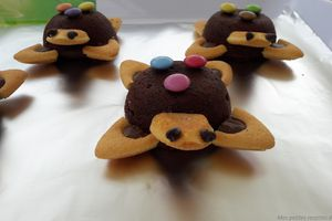 Fondants au chocolat version petites tortues
