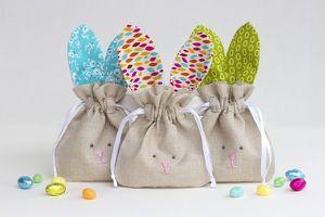 Petit sac lapin pour Pâques
