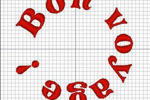 """Broderie machine : """" Bon Voyage"""""""