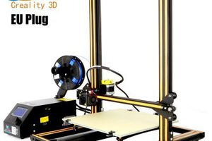 Creality3D CR - 10 3D Desktop DIY Printer  - EU PLUG COFFEE AND BLACK