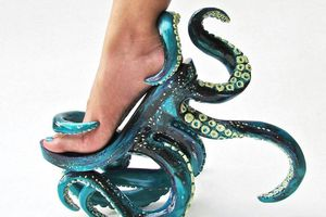Check out this weird tentacle heels by Kermit Tesoro