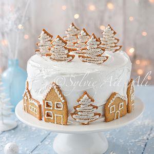 Village sous la neige et Cadeau