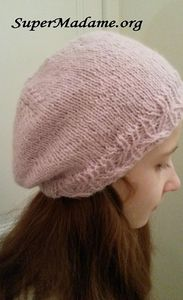 Modèle de tricot gratuit : bonnet slouchy, forme bérer