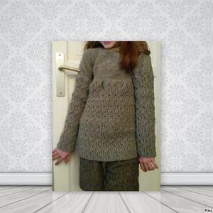 Modèle de tricot gratuit : un pull maritime couleur d'algues