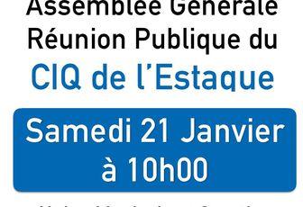 Réunion Publique CIQ Estaque - Samedi 21 Janvier