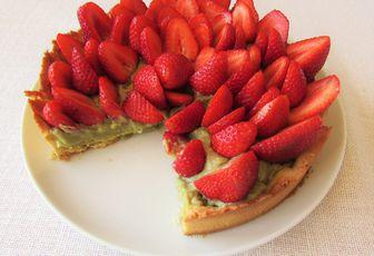 Tarte fraise & pistache