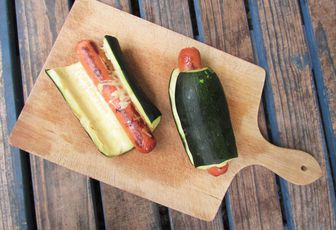Hot dog courgette