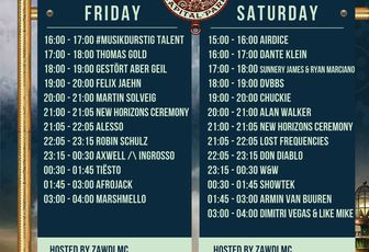 Tiësto date | New Horizons Festival | Nürburg, Germany - august 25, 2017