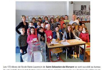 L'école Marie Laurencin dans le journal !