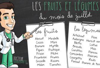FRUITS ET LEGUMES DE JUILLET