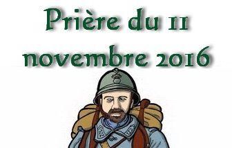 11 NOVEMBRE : PRIONS POUR LA PAIX