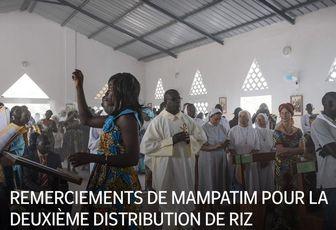 REMERCIEMENTS DE MAMPATIM POUR LA DEUXIÈME DISTRIBUTION DE RIZ
