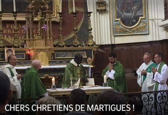 CHERS CHRETIENS DE MARTIGUES !