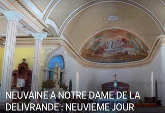 NEUVAINE A NOTRE DAME DE LA DELIVRANDE : NEUVIEME JOUR