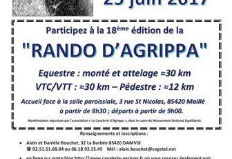 Rando à Maillé (85) dimanche 25 juin 2017