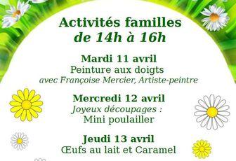 Programme des Activités familles des Vacances de Printemps
