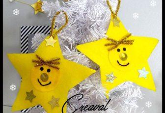 .. Déco de Noel pour sapin étoile ..