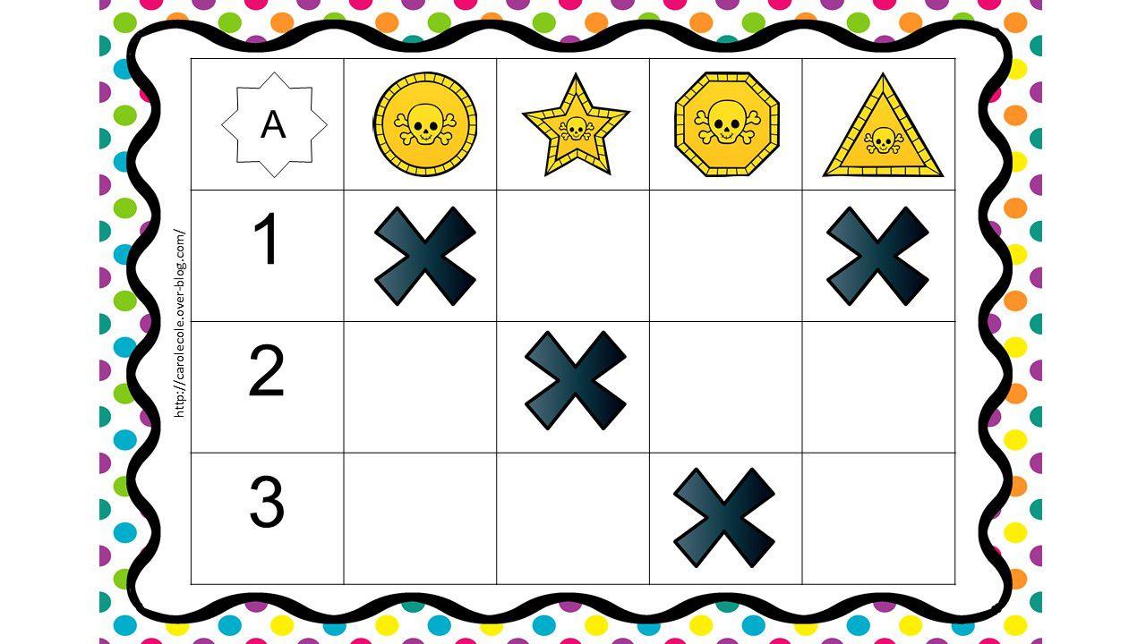Activité 1 : Placer dans le coffre les pièces demandées dans le tableau double entrée.
