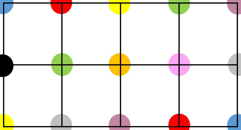 cartes avec 4 couleurs