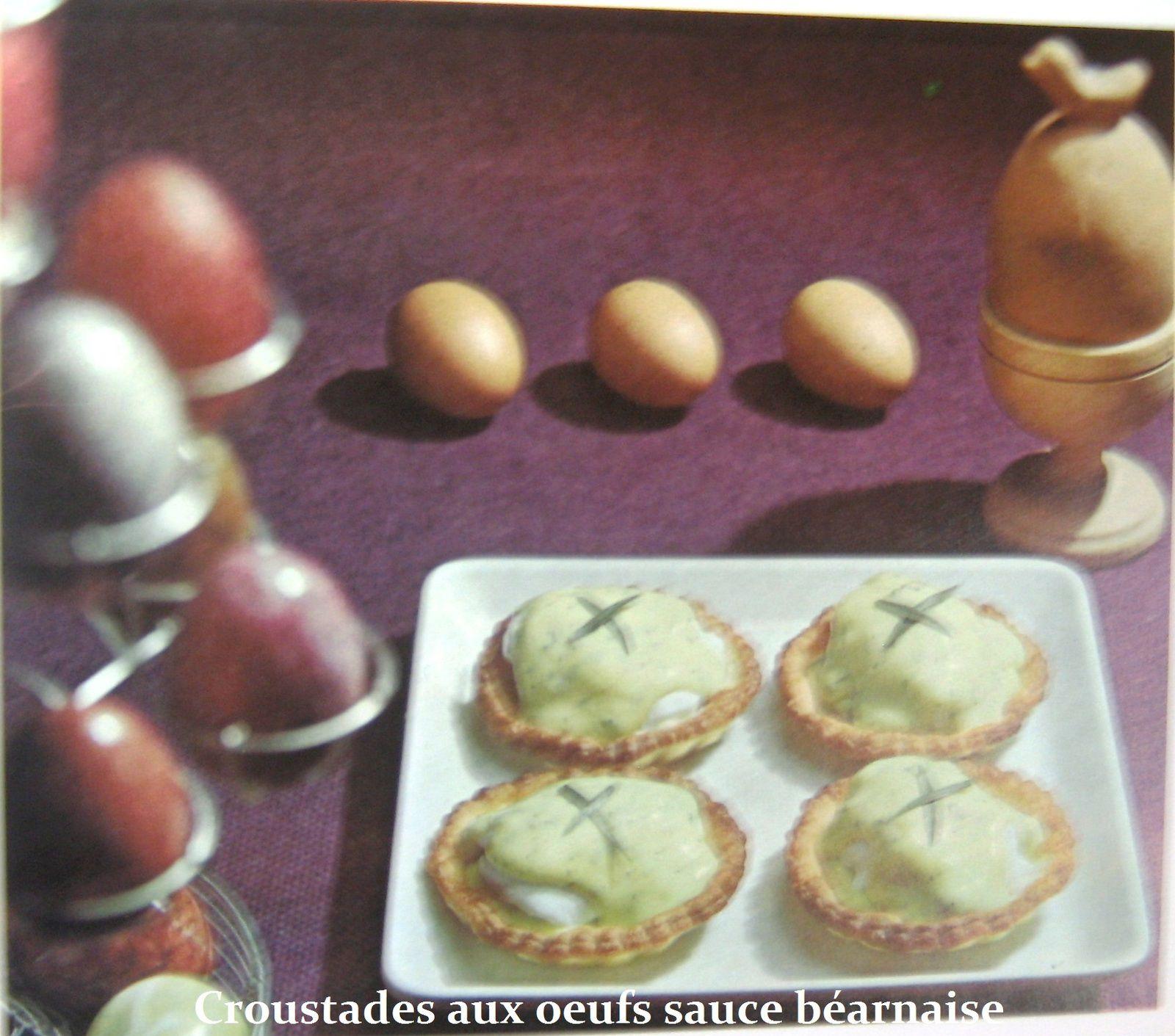 Croustades aux œufs sauce béarnaise